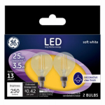 G E Lighting 28297 GE2PK 2.8W CLR or Clear or Cleaner G16 Bulb