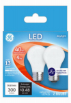G E Lighting 28392 Ceiling Fan LED Light Bulb, A15, Daylight, Clear, 4-Watts, 2-Pk.