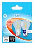 G E Lighting 28945 Ceiling Fan LED Light Bulb, A15, Daylight, Clear, 3.5-Watts, 2-Pk.