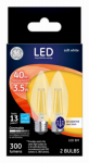G E Lighting 22589 GE 2PK CLR or Clear or Cleaner Blunt Bulb
