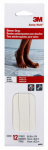3M 7643 Tub & Shower Anti-Slip Treads, White, .75 x 9-In. Strips, 12-Pk.