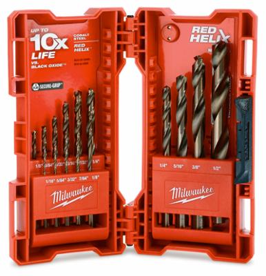 Milwaukee 48-89-2331 Red Helix Cobalt Drill Bit Set Quantity 1 15-Pc