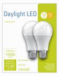 G E Lighting 32591 2PK 12W Day A19 Bulb