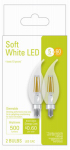G E Lighting 32602 2PK 5W CAC Clear Bulbs