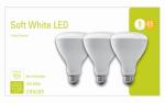 G E Lighting 32605 3PK 9W BR30 FLD Bulb