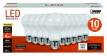 Feit Electric A800/830/10KLED/10 10PK 9.5W WW A19 Bulb