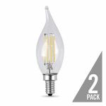 Feit Electric BPCFC60/850/LED/2 2PK 6W Flam E12 Bulb