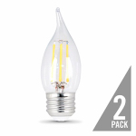 Feit Electric BPEFC60/850/LED/2 2PK 6W CLR or Clear or Cleaner Flame Bulb