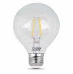 Feit Electric BPG2560/850/LED 5W CLR or Clear or Cleaner G25 LED Bulb