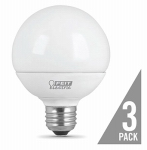 Feit Electric G2560/10KLED/3 3PK 9W G25 E26 Bulb