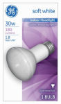 G E Lighting 14891 30-Watt Indoor Reflector Floodlight Bulb