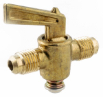 Anderson Metals 59210-06 3/8 x 3/8-Inch Brass Flare 2-Way Shut Off Cock