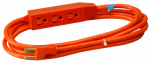 Ho Wah Gentin Kintron Sdnbhd 04003ME 3-Ft. 16/3 SJTW Orange Round 3-Outlet Extension Cord