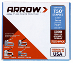 Arrow Fastener 504IP T-50 Staples, 1/4-In., 5000-Pk.