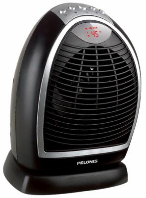 HF-0063 Digital Fan Heater, Oscillating, 600/900/1500-Watt -