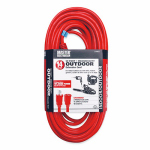 Southwire/Coleman Cable AXY050 Extension Cord, 14/3 SJTW Red Round Vinyl, 50-Ft.