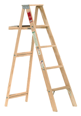 Michigan Ladder 110005 Wood Step Ladder, Type III, 5-Ft. - Q
