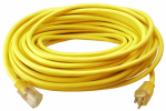 Ho Wah Gentin Kintron Sdnbhd 02588ME Extension Cord, 12/3 SJTW Yellow Round Vinyl, 50-Ft.