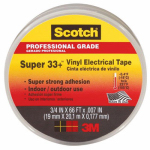 3M 6132-BA-100 Super 33+ Electrical Tape, Black Vinyl,  .75-In. x 66-Ft.