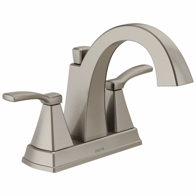 Delta faucet 25768lf ss flynn lavatory faucet 2 handle - Delta bathroom faucets brushed nickel ...