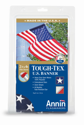 ANNIN 605003 Tough Tex U.S. Flag, Polyester, 2.5 x 4-Ft. - Q