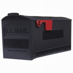 Solar Group GMB505B01 Roughneck Post Mailbox, Black, Small, 20.25 x 8.25 x 9.5-In.
