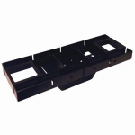 Solar Group GMB225 Mailbox Mounting Bracket, Black Polypropylene, 17 x 3.5 x 6.5-In.
