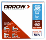 Arrow Fastener 505IP T-50 Staples, 5/16-In., 5000-Pk.