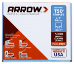 Arrow Fastener 506IP T-50 Staples, 3/8-In., 5000-Pk.