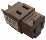 Pass & Seymour 68 Cube Tap, Polarized, Brown Vinyl, 1875-Watt