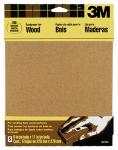 3M 9037 5-Pack 9 x 11-Inch 100-Grit Garnet Sandpaper