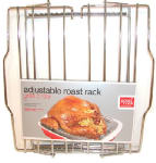 Bradshaw International 23803 Chrome Adjustable Roasting Rack