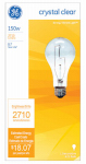 G E Lighting 16068 General Purpose Light Bulb, Clear, 150-Watt, Must Purchase in Quantities of 12