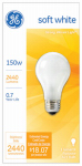 G E Lighting 10429 150-Watt Soft White Light Bulb
