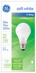 G E Lighting 97493 3-Way Soft White Light Bulb, 30/70/100-Watt