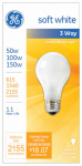 G E Lighting 97494 3-Way Soft White Light Bulb, 50/100/150-Watt