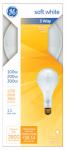 G E Lighting 41459 100/200/300-Watt 3-Way Soft White Light Bulb