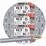 Southwire/Coleman Cable 55278321 25-Ft. 14/2 ACT Armored Cable