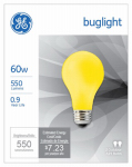 G E Lighting 97495 2-Pack 60-Watt Yellow Bug Light Bulbs