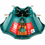 Jack Post 522-ST Christmas Tree Stand, Green Plastic, 21.65-In.