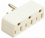 Pass & Seymour 697ICC20 15A Ivory Plug In Triple Outlet Adapter