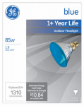 G E Lighting 13465 Miser Outdoor Floodlight Bulb, Blue, 85-Watt