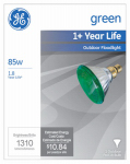 G E Lighting 13474 85-Watt Miser Outdoor Floodlight Bulb, Green