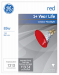 G E Lighting 13472 85-Watt  Miser Outdoor Floodlight Bulb, Red