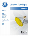 G E Lighting 13473 85-Watt  Miser Outdoor Floodlight Bulb, Yellow