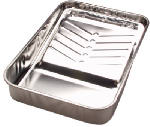 Linzer/American Brush RM435 Paint Tray, Metal With Ladder Grips, 1-Gal.