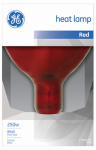 G E Lighting 37771 250-Watt Red Infrared Heat Reflector Light Bulb
