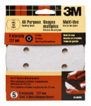 3M 9146ES 5-Pk., 5-In. 120-Grit 8-Hole Quick Change Sanding Disc
