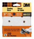 3M 9147 5-Pk., 5-In. 80-Grit 8-Hole Quick Change Sanding Disc