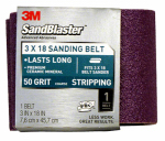 3M 9190SB-ES 3 x 18-Inch 50-Grit Sandblaster Sanding Belt
